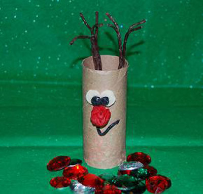 Cardboard Christmas Crafts for Kids