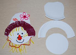 Scarecrow Crafts for Kids : paper plate scarecrow craft - pezcame.com