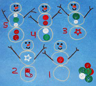 Snowman Counting Activity for Kids