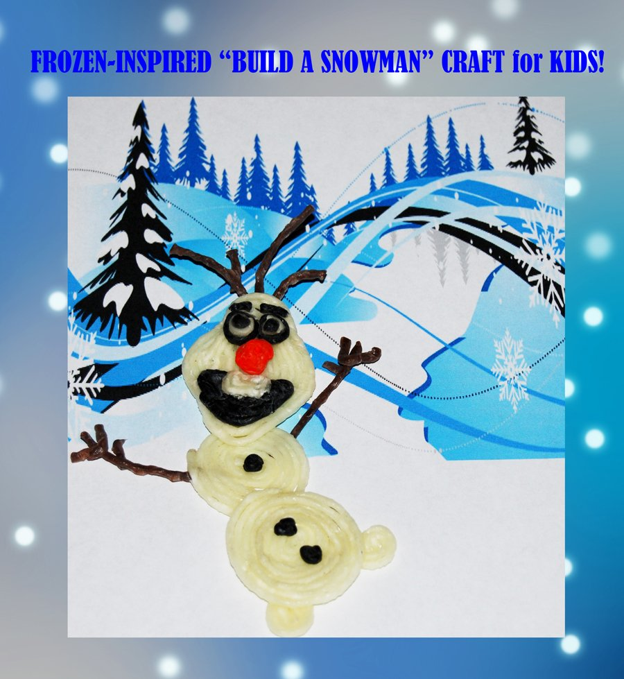 Frozen-Inspired Wikki Stix Build a Snowman Craft and Treat Bags for Kids!