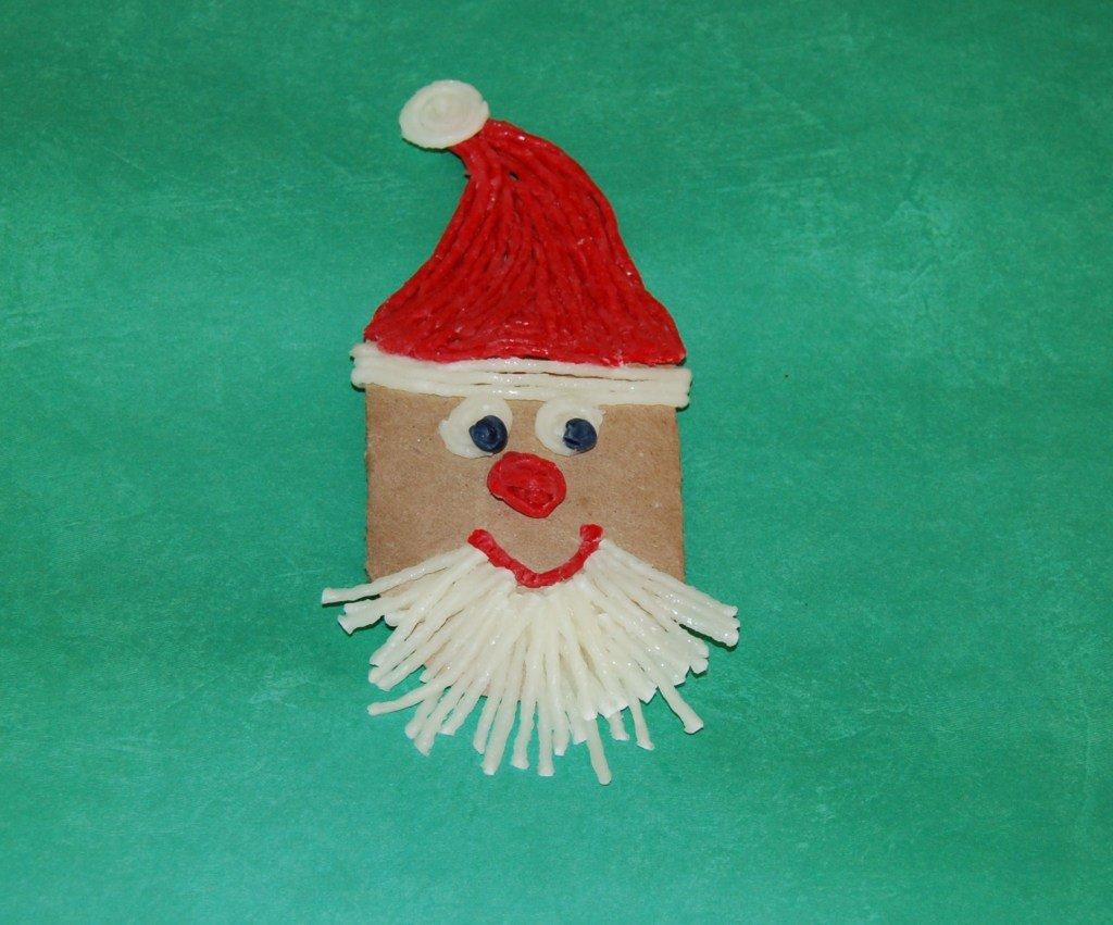 WS Cardboard Tube Santa