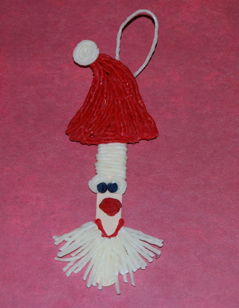 Craft Stick Santa