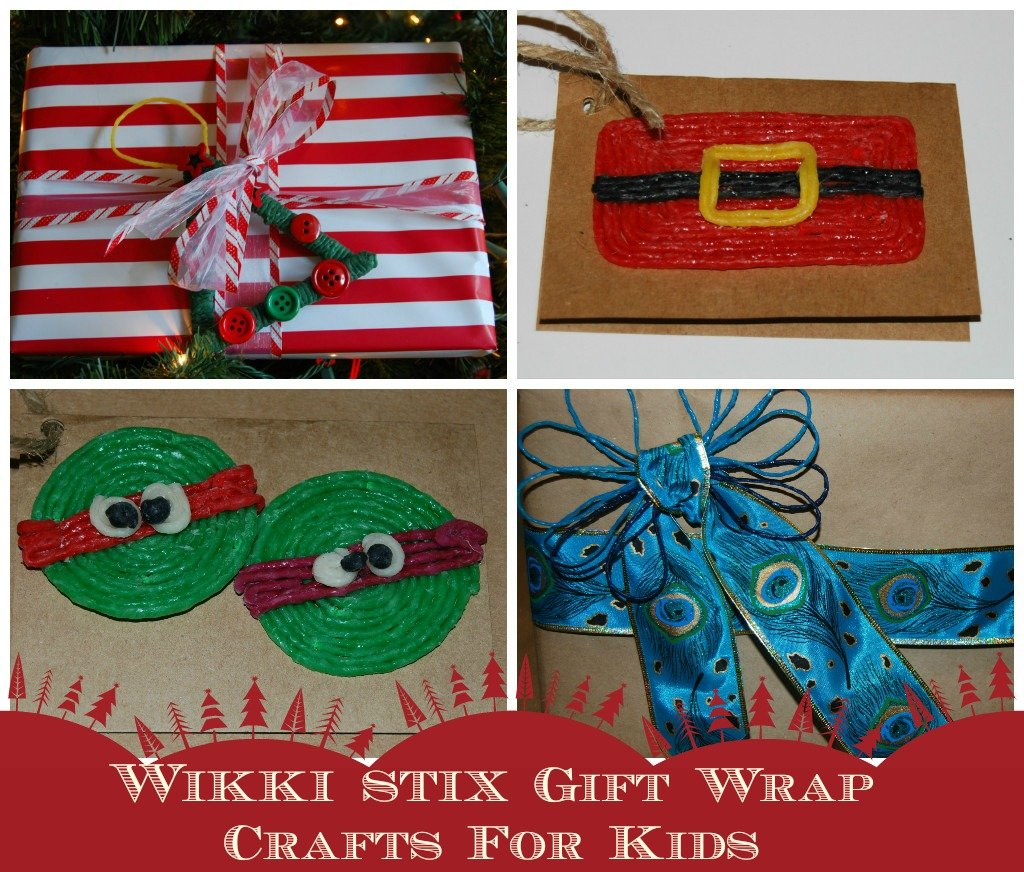 Wikki Stix Gift Wrapping Crafts and Ideas for Kids